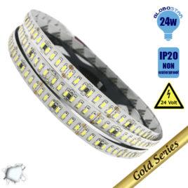 Ταινία LED 240 smd 3014 24 Watt 24 Volt Ψυχρό Λευκό GloboStar 63019
