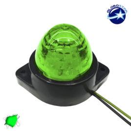 LED Πλευρικά Φώτα Όγκου Φορτηγών BULLET IP66 6 SMD 24 Volt Πράσινο GloboStar 75482