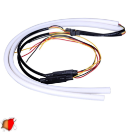 ΣΕΤ DRL – Φώτα Ημέρας για Φανάρι Αυτοκινήτου Κόκκινο + Πορτοκαλί για Φλας 85cm 12 Volt GloboStar 55116