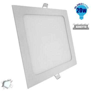 Πάνελ PL LED Οροφής Χωνευτό Τετράγωνο 20W 230V 1920lm 180° Ψυχρό Λευκό 6000k GloboStar 01884