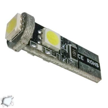 Λαμπτήρας LED T10 Can Bus με 3 SMD 5050 Ψυχρό Λευκό GloboStar 17440