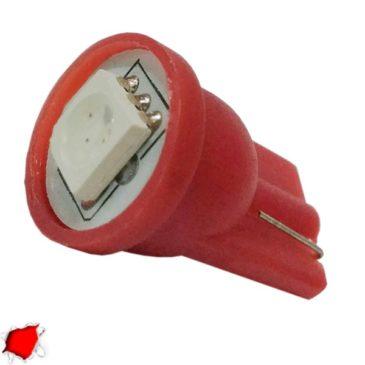 Λαμπτήρας LED T10 με 1 SMD 5050 Κόκκινο GloboStar 65650