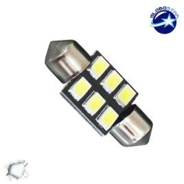 Σωληνωτός LED PCB 31mm με 6 SMD 5630 Samsung Chip Λευκό 6000k GloboStar 40179