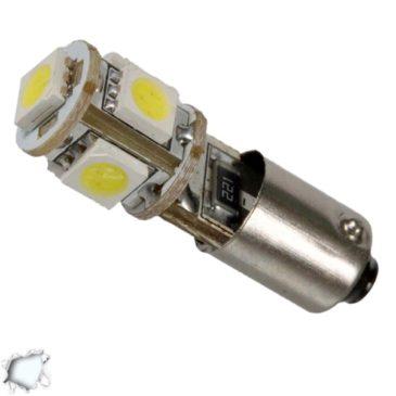 Λαμπτήρας LED Βa9s Can Bus με 5 SMD 5050 Ψυχρό Λευκό GloboStar 23000