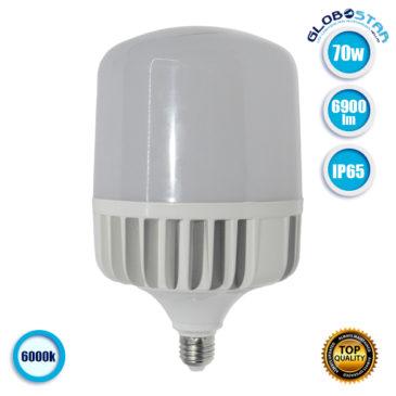 Λάμπα LED E27 High Bay 70W 230V 6900lm 260° Αδιάβροχη IP54 Ψυχρό Λευκό 6000k GloboStar 78009
