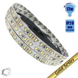 Ταινία LED 120 smd 3014 12 Watt 12 Volt Ψυχρό Λευκό IP20 GloboStar 04427