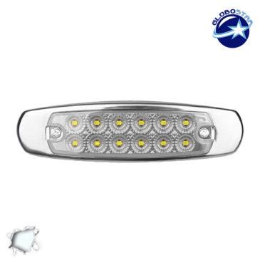 LED Πλευρικά Φώτα Όγκου Φορτηγών Αλουμινίου Νίκελ IP66 14 SMD 24 Volt Ψυχρό GloboStar 75475