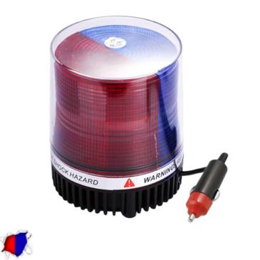 Φάρος Αστυνομίας STROBO LED 10W 10-30V IP65 Αδιάβροχος με Μαγνήτη Strobe Μπλε + Κόκκινο GloboStar 88642