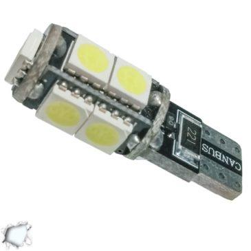 Λαμπτήρας LED T10 Can Bus με 9 SMD 5050 Ψυχρό Λευκό GloboStar 37440
