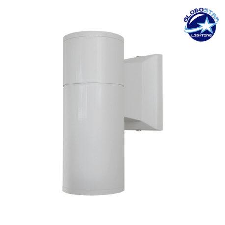 Φωτιστικό Τοίχου Wally Λευκό Αλουμινίου IP65 Down Gu10 GloboStar 90081