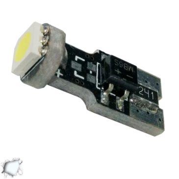 Λαμπτήρας LED T10 Can Bus με 1 SMD 5050 Ψυχρό Λευκό GloboStar 11150