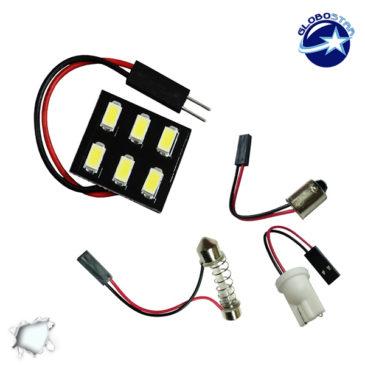 Πλακέτα LED PCB με 6 smd 5630 Ψυχρό Λευκό GloboStar 40150