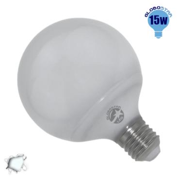 Γλόμπος LED G95 με βάση E27 15 Watt 230v Ψυχρό GloboStar 01733