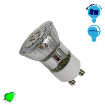 LED Spot GU10 M35 4W 230v Πράσινο Dimmable GloboStar 90604