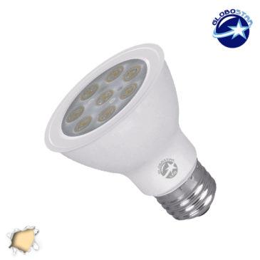 Λαμπτήρας LED PAR20 με Βάση E27 8 Watt 230v Θερμό GloboStar 75517