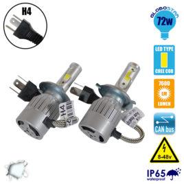LED HID Kit H4 36 Watt 8-48 Volt DC 3800 Lumen 6000k C6 Economy Line GloboStar 06662