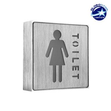 Φωτιστικό LED Σήμανσης Αλουμινίου WC WOMEN GloboStar 75502