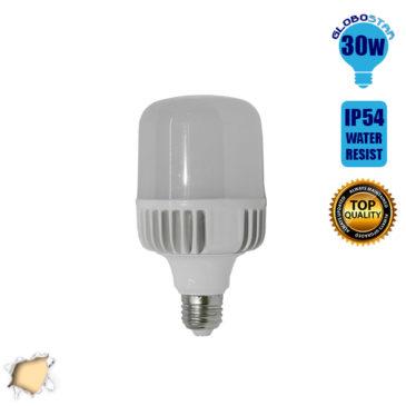 Λάμπα LED E27 High Bay 30W 230V 2800lm 260° Αδιάβροχη IP54 Θερμό Λευκό 3000k GloboStar 78001