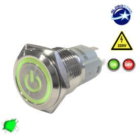 Διακοπτάκι LED ON/OFF 230 Volt Πράσινο GloboStar 05055