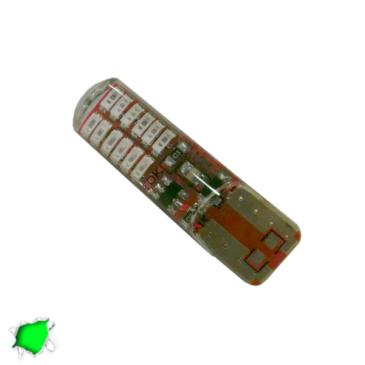 Λαμπτήρας T10 24 SMD Σιλικόνης Πράσινο Strobe GloboStar 08343