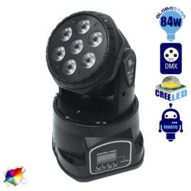 Επαγγελματική Κινούμενη Ρομποτική Κεφαλή WASH CREE LED 84W 230V 25° DMX512 RGBW GloboStar 51111