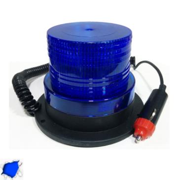 Φάρος Αστυνομίας STROBO LED 10W 10-30V IP65 Αδιάβροχος με Μαγνήτη Strobe Μπλε GloboStar 88655