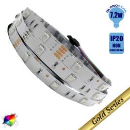 Ταινία LED 7.2 Watt 12 Volt RGB IP20 GloboStar 79840