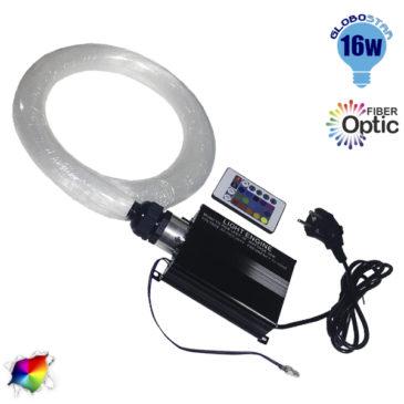 Κιτ Οπτικής Ίνας 280 τεμαχίων 16 Watt RGBW με Ασύρματο Χειριστήριο GloboStar 88766