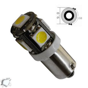 Λαμπτήρας LED Bax9s Can Bus με 5 SMD 5050 Ψυχρό Λευκό GloboStar 96740