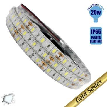 Ταινία LED 20 Watt 12 Volt Ψυχρό Λευκό IP65 Υπερυψηλής Αδιάβροχη GloboStar 77391