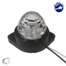 LED Πλευρικά Φώτα Όγκου Φορτηγών BULLET IP66 6 SMD 24 Volt Ψυχρό GloboStar 75480