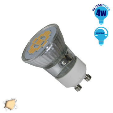 LED Spot GU10 M35 4W 230v Θερμό Dimmable GloboStar 90602