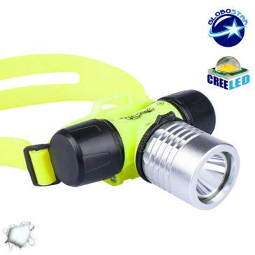 Αδιάβροχος Καταδυτικός Φακός Κεφαλής IP68 3 Watt COB GloboStar 07021