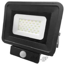 LED Προβολέας 30W SMD Μαύρος Classic Line2 με Αισθητήρα Κίνησης Θερμό Λευκό(FL5861)