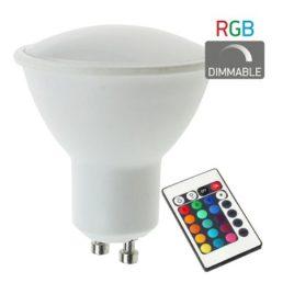 ΛΑΜΠΤΗΡAΣ LED RGB DIMMABLE GU10 4.5W(dyp5378)