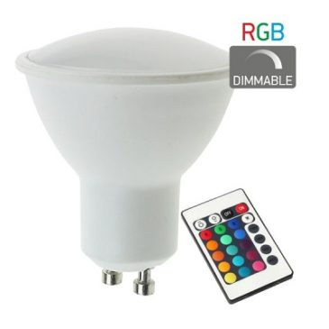 ΛΑΜΠΤΗΡAΣ LED RGB DIMMABLE GU10 4.5W(dyp5378)