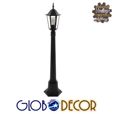Vintage Industrial Φωτιστικό Δαπέδου Μονόφωτο Μαύρο Μεταλλικό Πλέγμα GloboStar ELLIPSE 01401