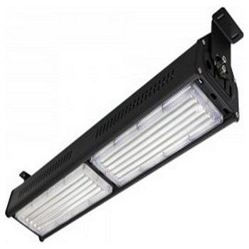 LED High Bay Γραμμικό Φωτιστικό 100W SAMSUNG CHIP Αδιάβροχο Μαύρο Φως Ημέρας(0589)