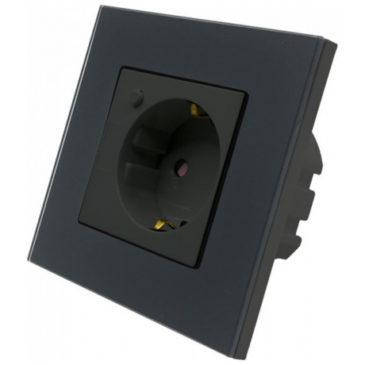 V-TAC Έξυπνη Πρίζα Σούκο Χωνευτή με WiFi Συμβατή με Amazon Alexa και Google Home Μαύρο 8797