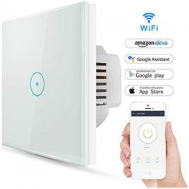 V-TAC Έξυπνος Διακόπτης Αφής Λευκός με WiFi Συμβατός με Amazon Alexa και Google Home (8417)