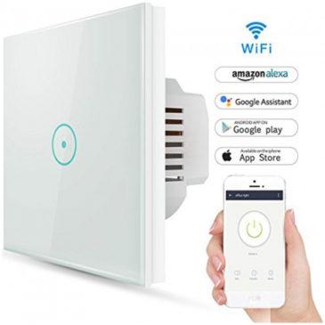 V-TAC Έξυπνος Διακόπτης Αφής Διπλός Κ/Μ Λευκός με WiFi Συμβατός με Amazon Alexa και Google Home 8418
