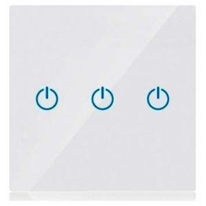 V-TAC Έξυπνος Διακόπτης Αφής Τριπλός Λευκός με WiFi Συμβατός με Amazon Alexa και Google Home (8419)