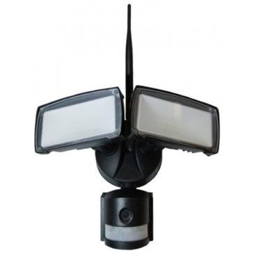 V-TAC προβολέας ασφάλειας LED 18W με  WiFi Sensor Camera Μαύρος Ψυχρό Λευκό 5917