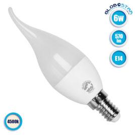 Λάμπα LED E14 Κεράκι C37T 6W 230V 570lm 260° Φυσικό Λευκό 4500k GloboStar 01692