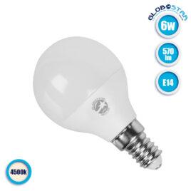 Λάμπα LED E14 G45 Mini Γλόμπος 6W 230V 570lm 260° Φυσικό Λευκό 4500k GloboStar 01704