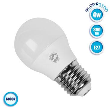 Λάμπα LED E27 G45 Mini Γλόμπος 4W 230V 390lm 260° Ψυχρό Λευκό 6000k GloboStar 01706