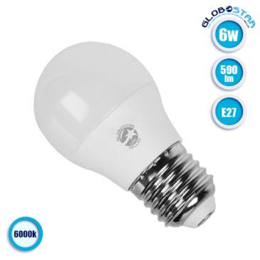 Λάμπα LED E27 G45 Mini Γλόμπος 6W 230V 590lm 260° Ψυχρό Λευκό 6000k GloboStar 01709