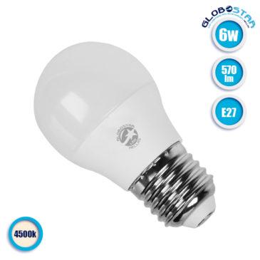 Λάμπα LED E27 G45 Mini Γλόμπος 6W 230V 570lm 260° Φυσικό Λευκό 4500k GloboStar 01710