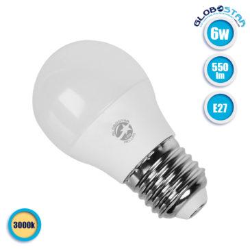 Λάμπα LED E27 G45 Mini Γλόμπος 6W 230V 550lm 260° Θερμό Λευκό 3000k GloboStar 01711