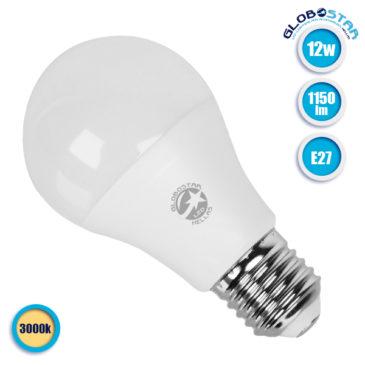Λάμπα LED E27 A60 Γλόμπος 12W 230V 1150lm 260° Θερμό Λευκό 3000k GloboStar 01732